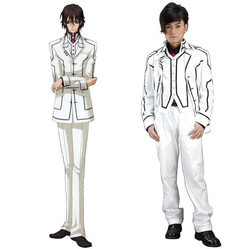 Vampire Knight Night Class White Male School Uniform Anime Cosplay Costumes Outfit