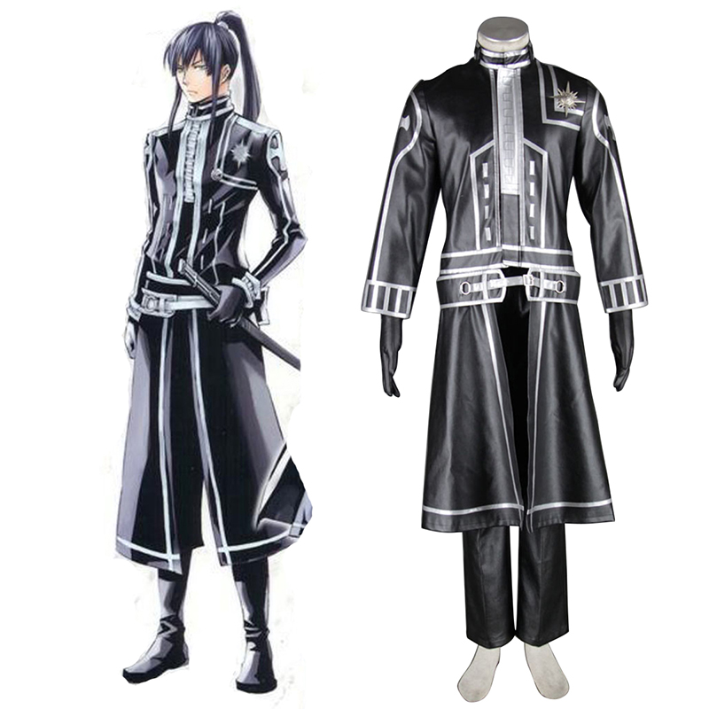 D.Gray-man Yu Kanda 2 Anime Cosplay Costumes Outfit