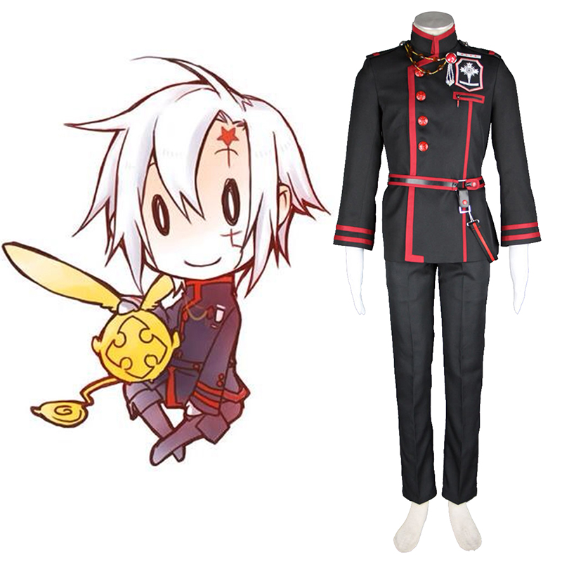 D.Gray-man Allen Walker 3 Anime Cosplay Costumes Outfit
