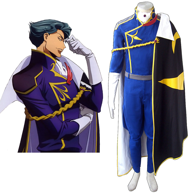 Code Geass Jeremiah Gottwald Anime Cosplay Costumes Outfit