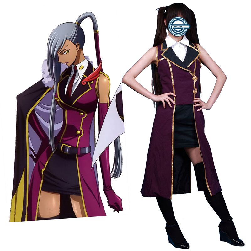 Code Geass Villetta Nu 1 Anime Cosplay Costumes Outfit