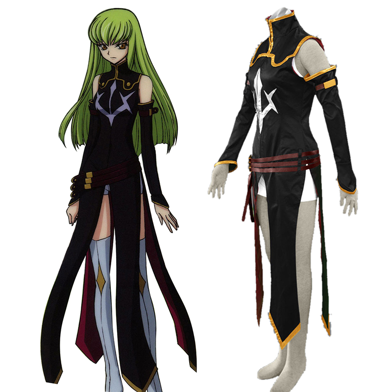 Code Geass C.C. 2 Anime Cosplay Costumes Outfit
