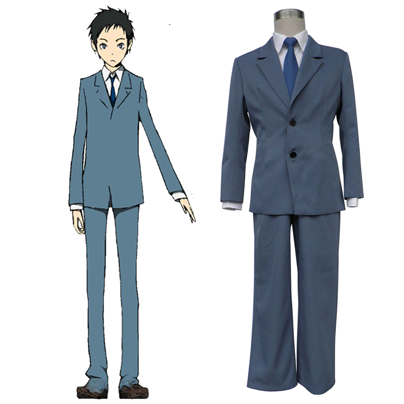 Durarara!! Raira Academy Men's School Uniform Anime Cosplay Costumes Outfit