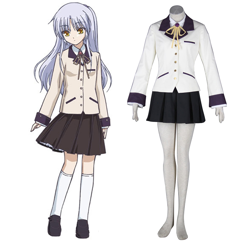 Angel Beats! Tachibana Kanade 1 Anime Cosplay Costumes Outfit