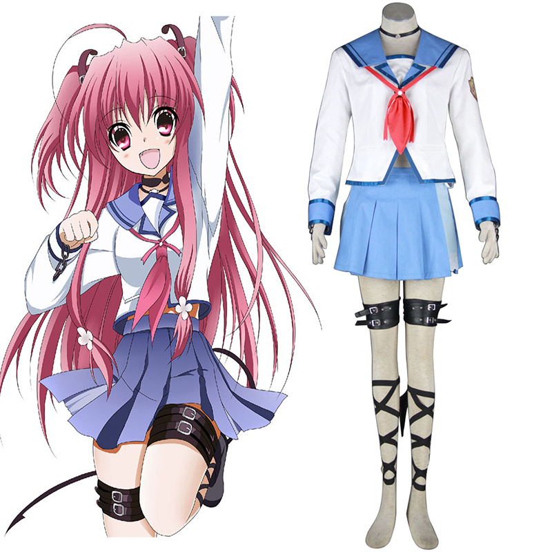 Angel Beats! Yui 1 Anime Cosplay Costumes Outfit
