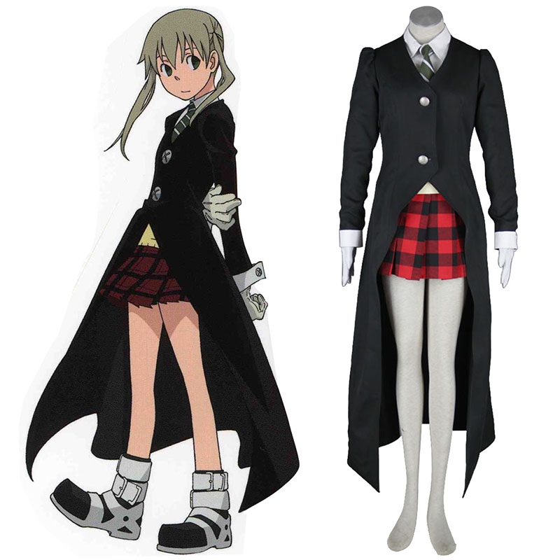 Soul Eater Maka Albarn 1 Black Anime Cosplay Costumes Outfit