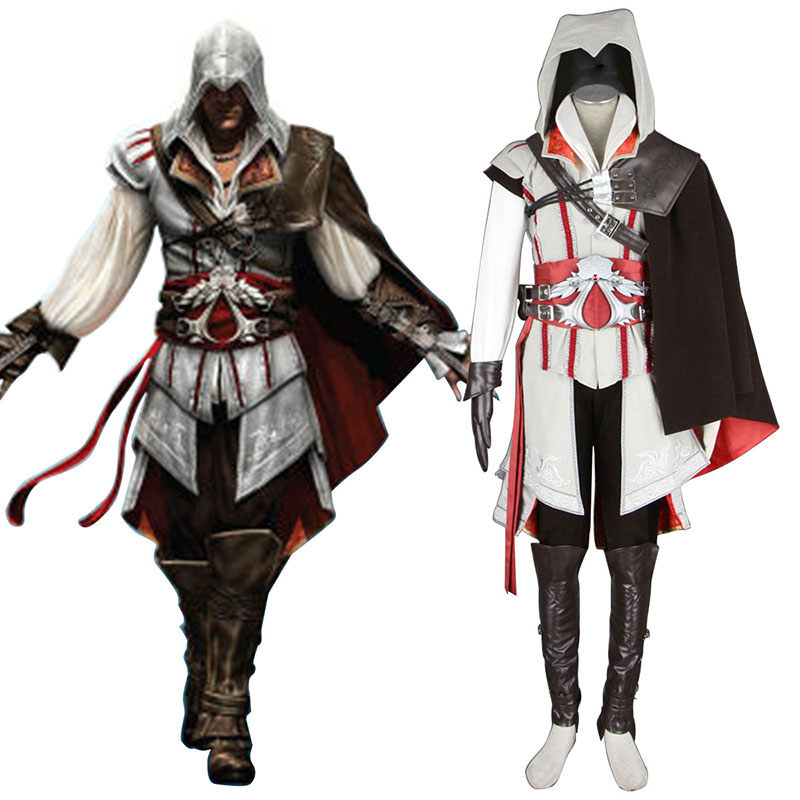 Assassins Creed II Assassin 2 Anime Cosplay Costumes Outfit