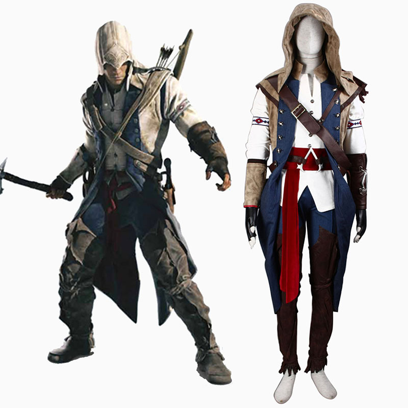 Assassin's Creed III Assassin 7 Anime Cosplay Costumes Outfit