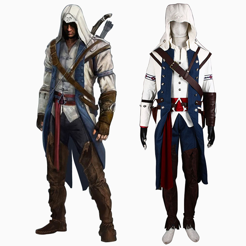 Assassin's Creed III Assassin 8 Anime Cosplay Costumes Outfit