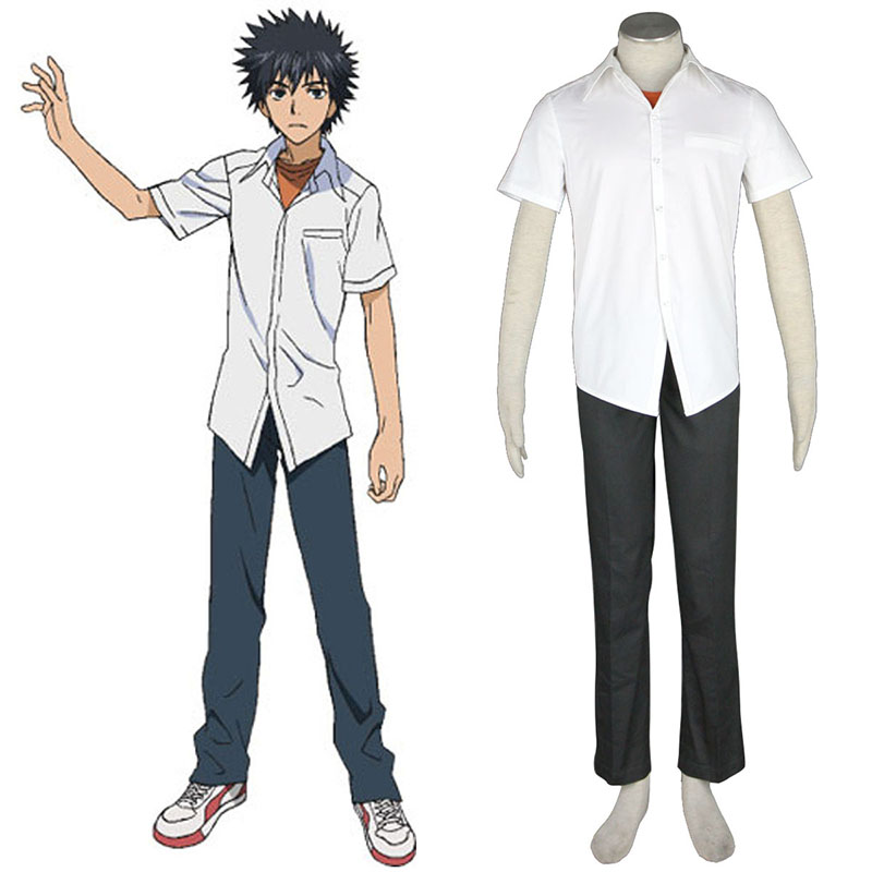 A Certain Magical Index Kamijou Touma 1 Anime Cosplay Costumes Outfit