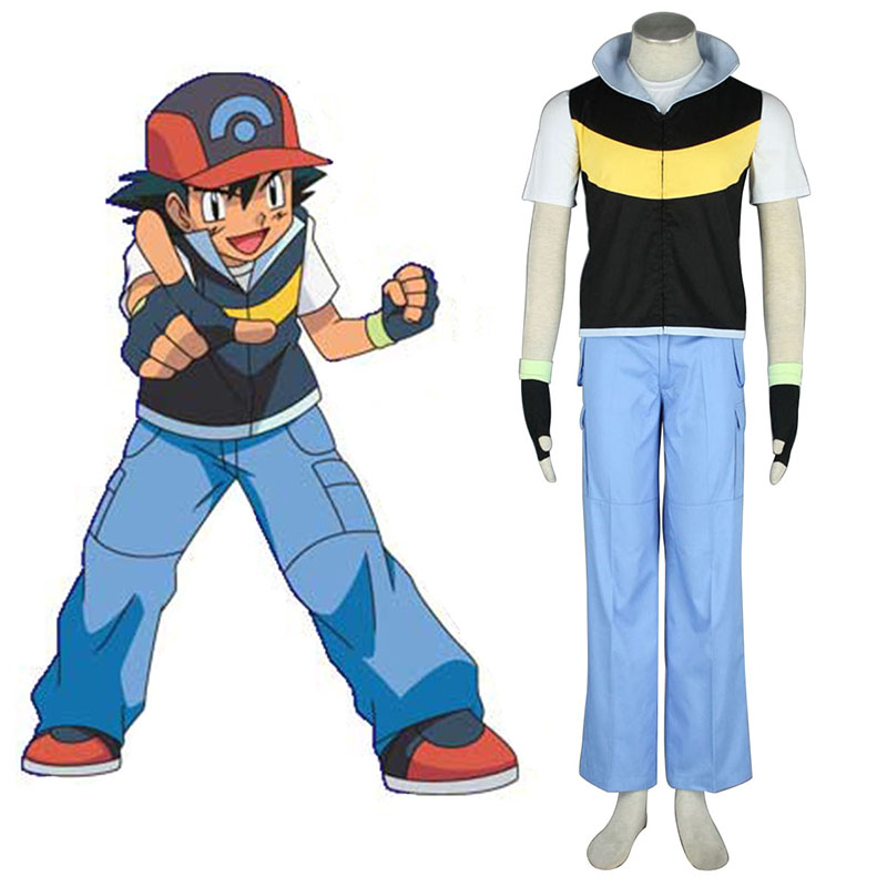 Pokémon Ash Ketchum 1 Anime Cosplay Costumes Outfit