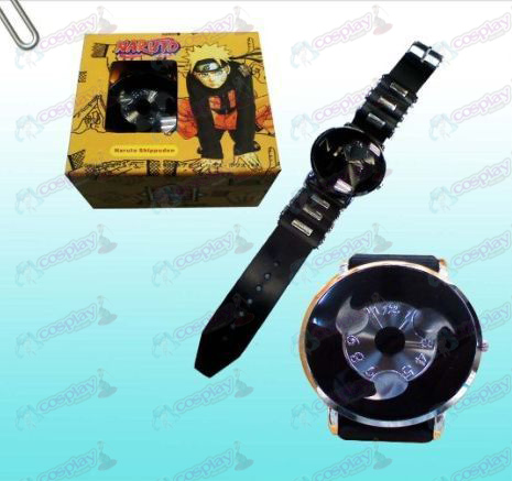 Naruto write round eyes black watches