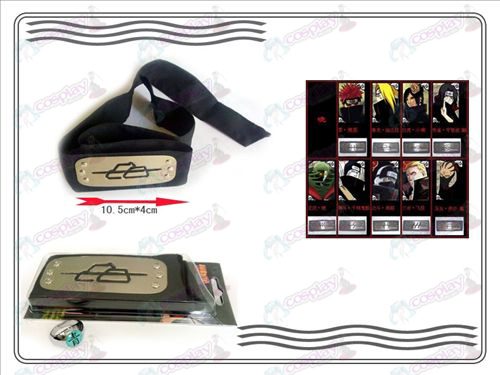 A generation of Naruto Xiao Organization ring + Headband (Green)