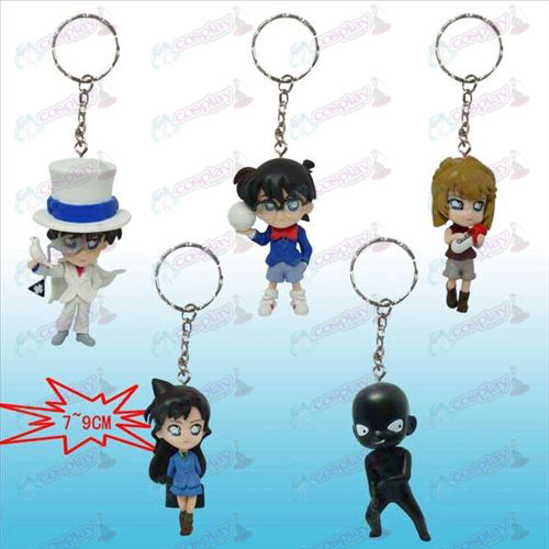10 on behalf of five models Conan Q version doll key chain