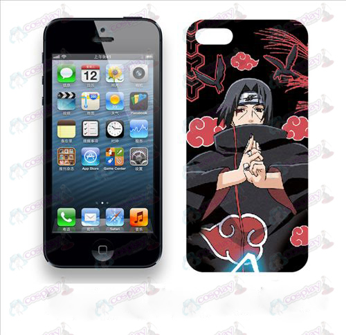 Apple iphone5 phone shell 006 (Naruto Red Cloud)