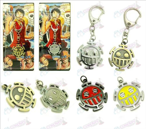 One Piece Accessories flag Pendant Keychain