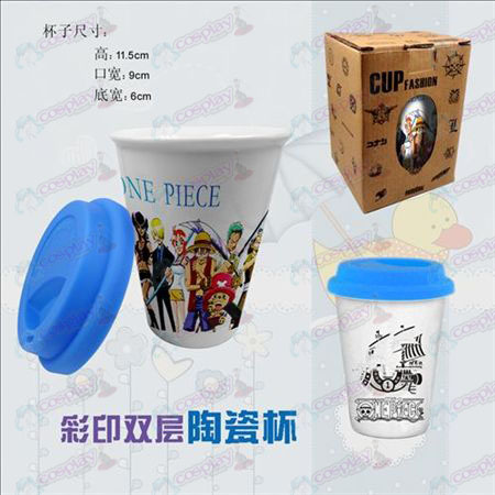 Double color ceramic cups (One Piece Accessories)
