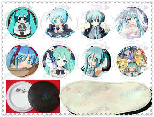 58MM Gyrosigma badge - Hatsune D