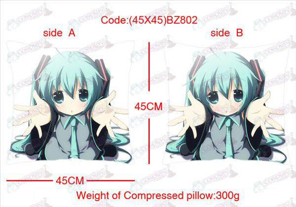 (45X45) BZ802-Hatsune Miku Accessories Anime sided square pillow