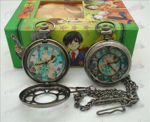 Hatsune hollow pocket watch (heart) + Cards