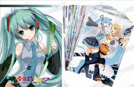 Hatsune Postcard + Card 3