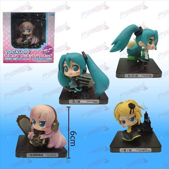 4 models Hatsune black floor doll (sets)