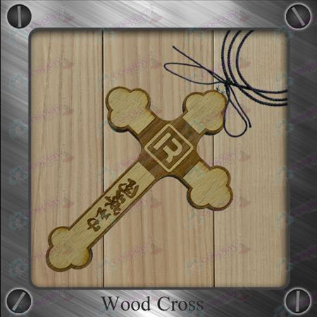 The Prince of Tennis Accessories-R flag wooden cross necklace
