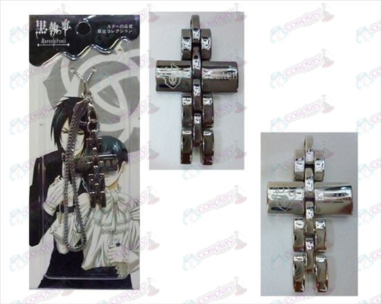 Black Butler Accessories Cross Strap in black and white
