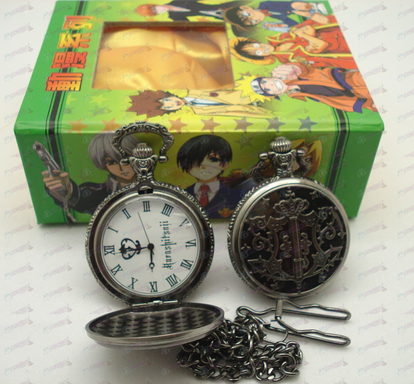 Black Butler Accessories Pocket Watch + Card