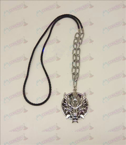 DFinal Fantasy Accessories Langtou flag punk long necklace (silver)