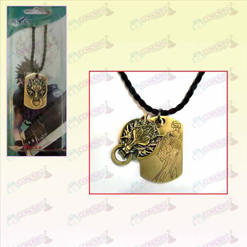 Final Fantasy Accessories Langtou necklace square cards +