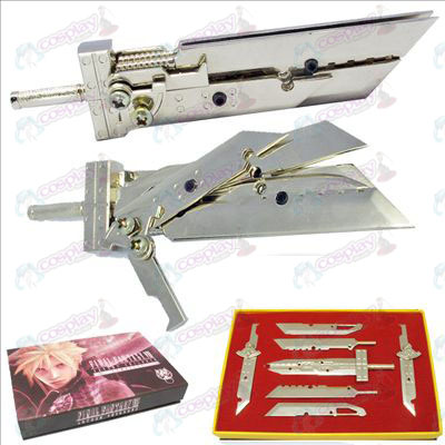 Final Fantasy Accessories Weapons seven sets (Silver)