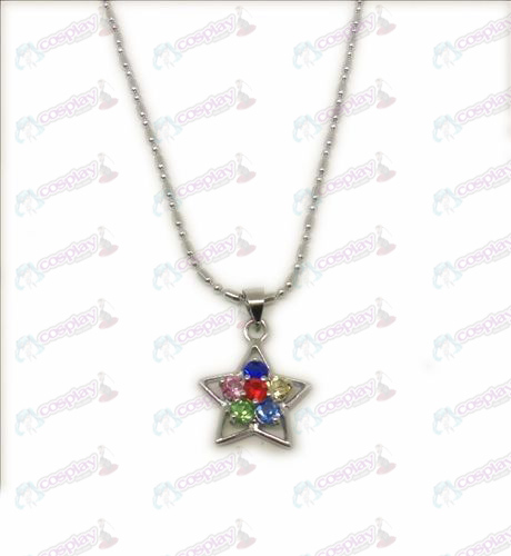 D Blister Lucky Star Accessories Necklace (Diamond)