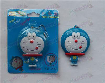 Doraemon tongue licking mirror