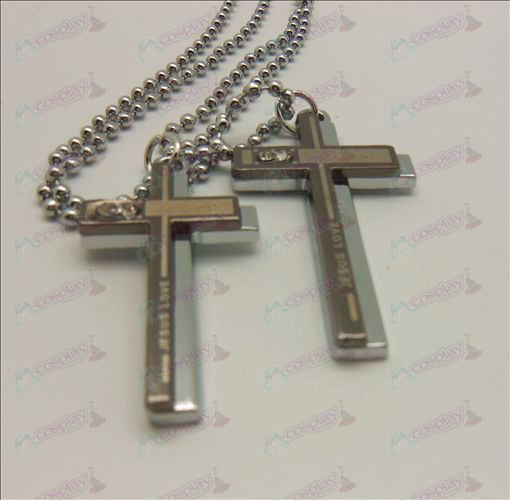 Death Note Accessories Dual Cross Necklace (box)