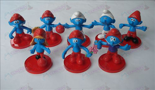 8 models The Smurfs Accessories doll cradle