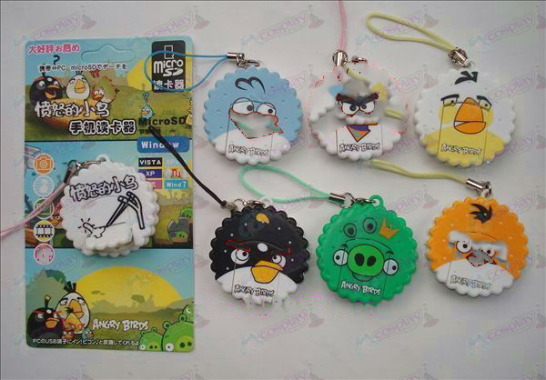 Angry Birds Accessories Card Reader (6 / set)