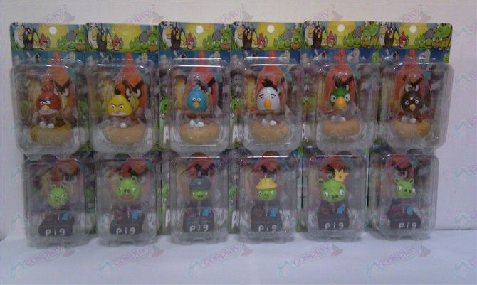 Angry Birds Accessories card installed doll (12 / set)