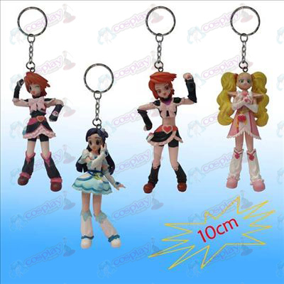 1 Generation 4 models light girl doll key chain