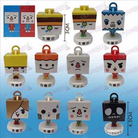 10 boxed tofu doll ornaments workers who
