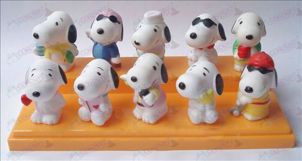 10 Snoopy doll plastic pond