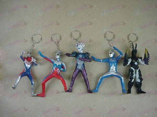6 Generation 6 Superman Ultraman Accessories Keychains
