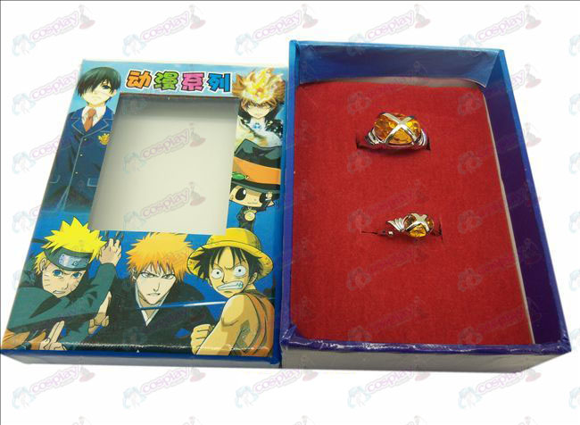 D Shakugan no Shana couple gemstone rings (orange)