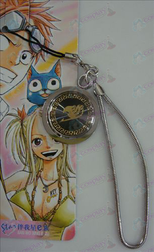 Black Steel Strap Fairy Tail Accessories gold