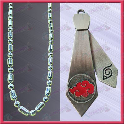Naruto - Red Cloud Tie Necklace (movable)
