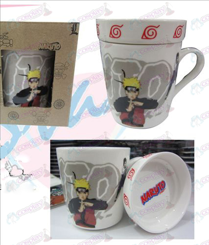Cartoon ceramic cup (with lid) Naruto