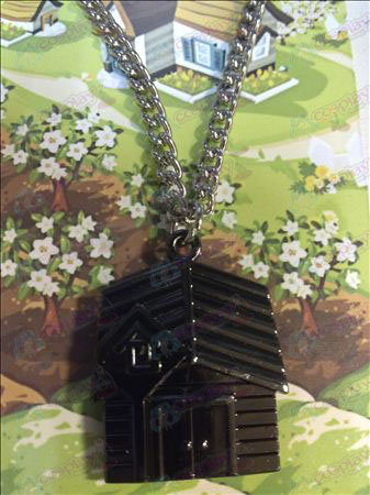 QQ Ranch necklace (black chain)