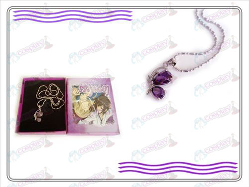 LOVELESS three generations of the butterfly necklace (purple)