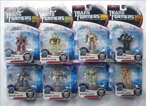 Genuine eight Transformers Accessories character seal