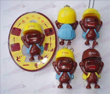 Domo Accessories face doll ornaments (a) Blue Bag